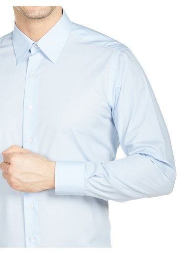 Bisse GM20Y21137 Uzun Kollu Klasik Gömlek Mavi